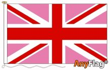 UNION JACK PINK  ANYFLAG RANGE - VARIOUS SIZES